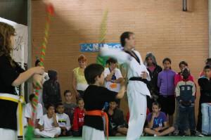Exhibició del Gimnàs d'arts marcials Chois Lee Girona